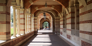 Corridor of Royce Hall at UCLA
